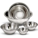 6 Piece Stainless Steel Mixing Bowl Set (Set of 6)