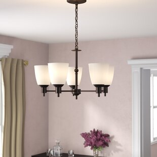 Glen Forest 5-Light Shaded Chandelier by Andover Mills