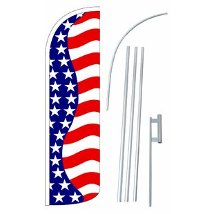 Stars And Stripes Polyester 15' X 2'6 Flag Set by NeoPlex