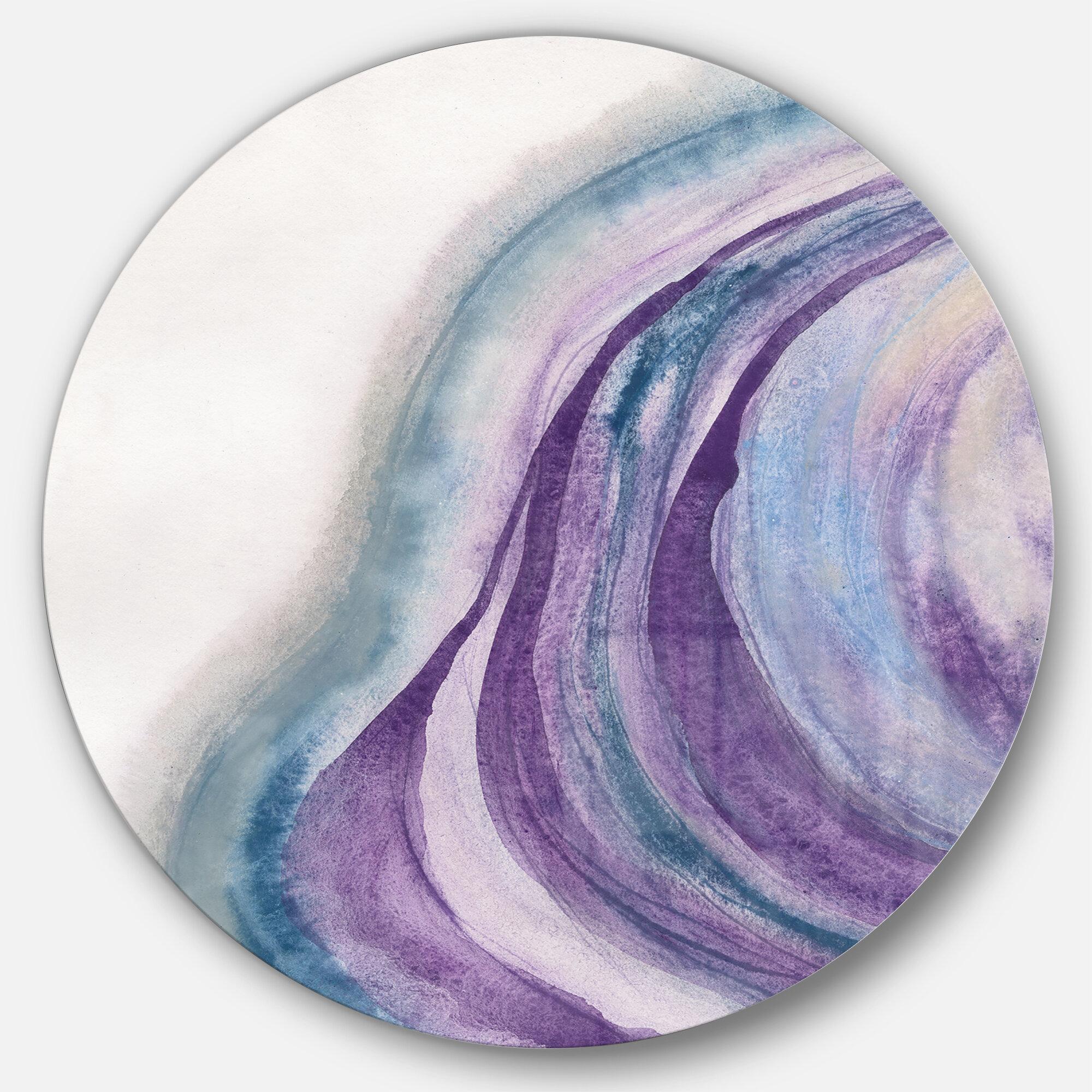 East Urban Home Watercolor Geode Ii Painting Print On Metal Circle Wayfair