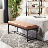 Saddle Faux leather Bench by Williston Forge