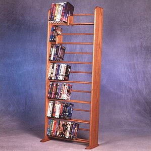 700 Series 280 DVD Dowel Multimedia Storage Rack by Wood Shed