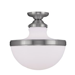 Montpelier 1-Light Semi Flush Mount by Red Barrel Studio
