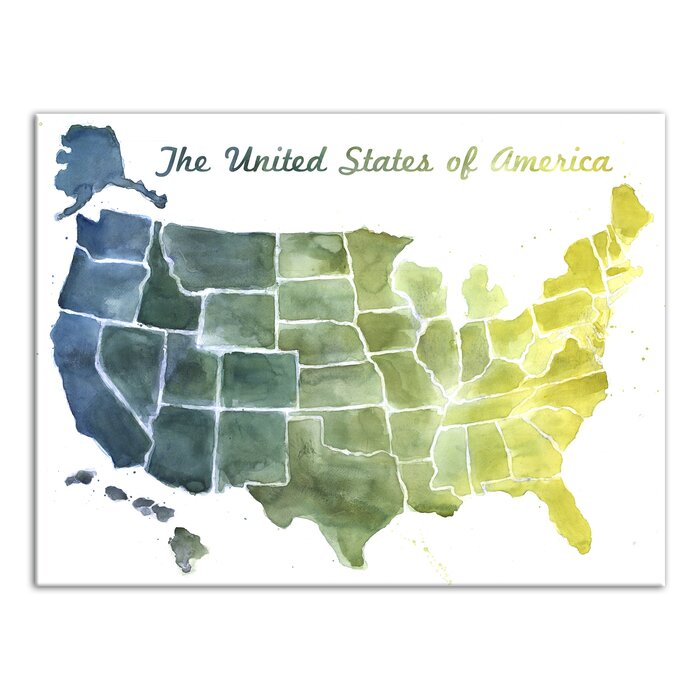 'United States Map' Watercolor Painting Print on Canvas on montana map print, ethiopia map print, state abbreviations print, atlanta map print, bahamas map print, earth map print, south asia map print, michigan map print, philippines map print, kansas map print, arizona map print, thailand map print, africa map print, syria map print, united states poster, europe map print, usa map print, columbus map print, us state map print, ohio map print,