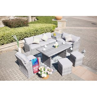 Lynch Outdoor 7 Piece Sofa Seating Group with Cushions