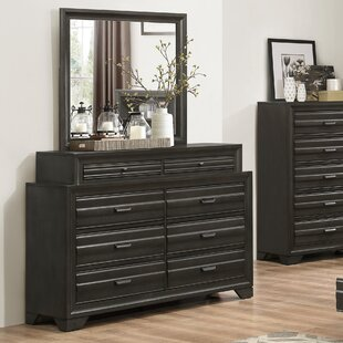 Blasco Wood 8 Drawer Standard Dresser/Chest with Mirror