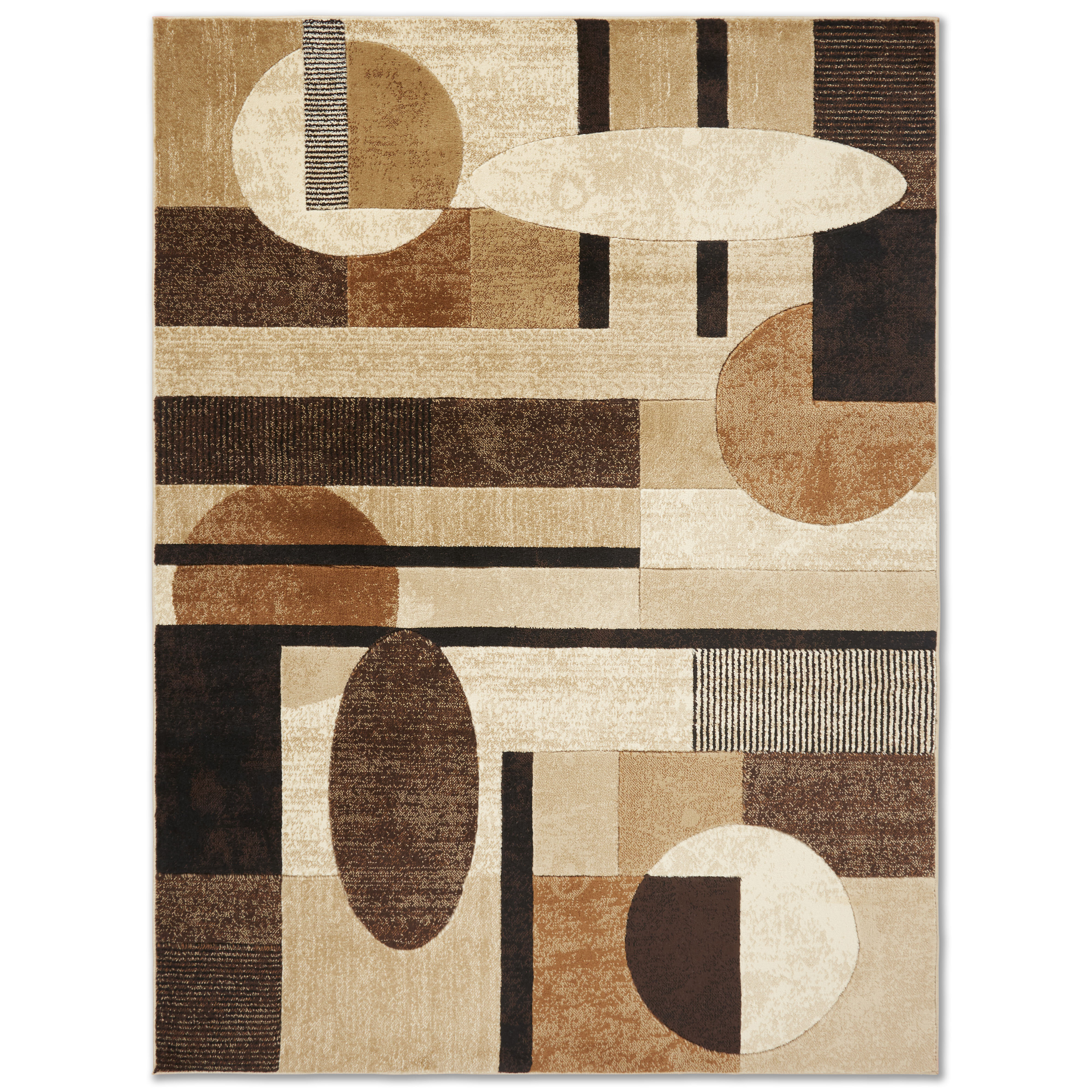 Zipcode Design Nolan Modern Geometric Beige Brown Black Area Rug Reviews Wayfair Ca