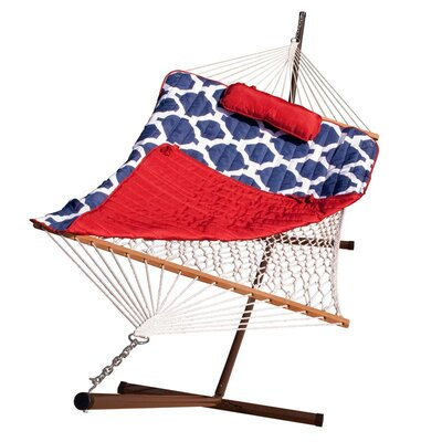 stinson cotton hammock with stand magic cabin rocking cotton hammock with stand  u0026 reviews   wayfair  rh   wayfair