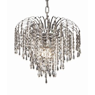 Affordable Westrem 3-Light Crystal Chandelier By House of Hampton
