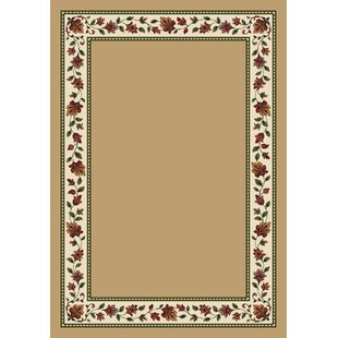 High-End Collinsville Symphony Wheat Solid Area Rug By Highland Dunes