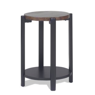 Farmer Round Stand End Table
