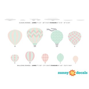Hot Air Balloon Adventure Self-Adhesive Door Mural Sticker For All Europe Size