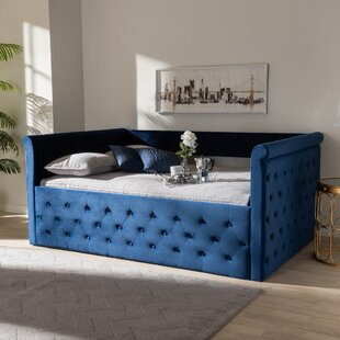 Cornell Modern and Contemporary Velvet Upholstered Daybed
