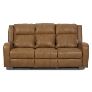 Acorn Oaks Reclining Sofa With Headrest And Lumbar Support