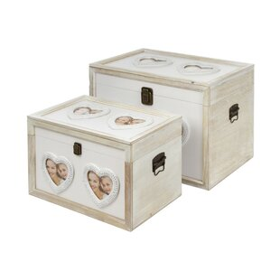 Clinger 2 Piece Wooden Trunk Set By Lily Manor