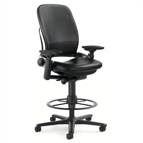 Leap® High-Back Leather Drafting Chair  sc 1 st  Wayfair & Steelcase Leap® High-Back Leather Drafting Chair | Wayfair