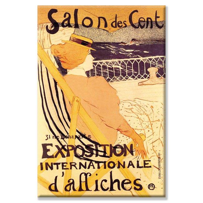 Exposition Internationale d'Affiches by Henri de Toulouse-Lautrec Vintage Advertisement on Wrapped Canvas