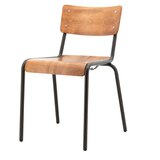 Folding Side chair in Brown (Set of 2) by By Boo