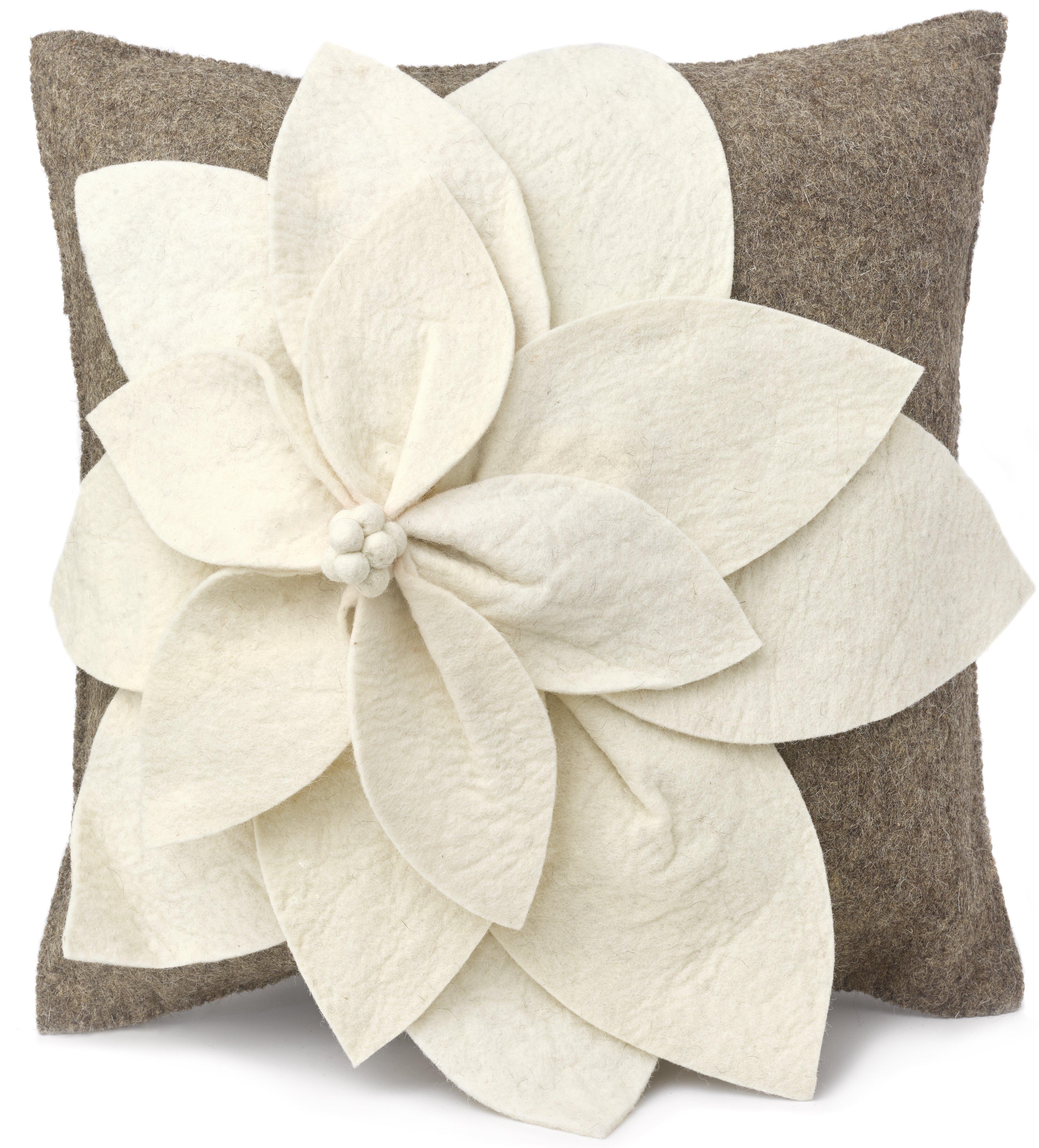 Arcadia Home Allyson Wool 20 Throw Pillow Cover Wayfair