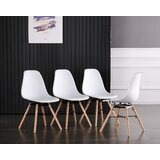 Dekker Side Chair in White (Set of 4) by George Oliver