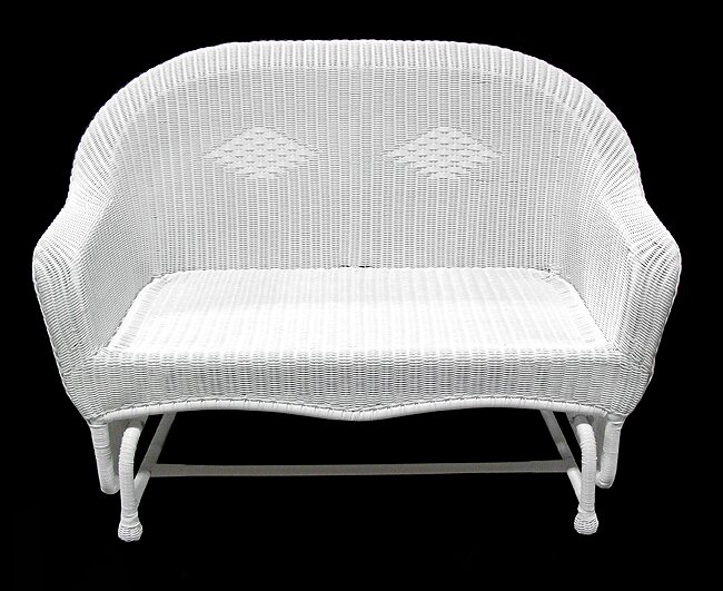Resin Wicker Double Glider Chair