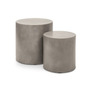 Ranchester Pedestals End Table Set (Set of 2)