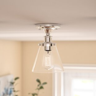 Aldford 1-Light Semi Flush Mount by Three Posts