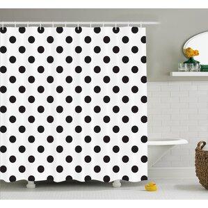 Baltzell Polka Dots Art Shower Curtain
