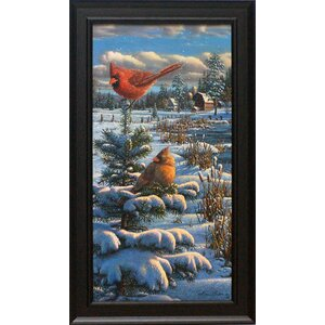 'A Cold Winter's Day' Framed Graphic Art Print