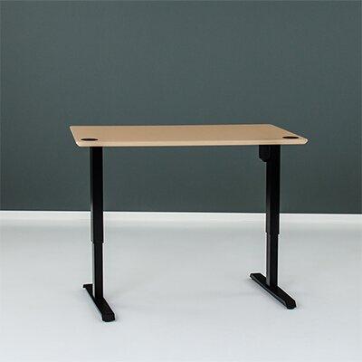 Wiersma Height-Adjustable Standing Desk Latitude Run Color: Black