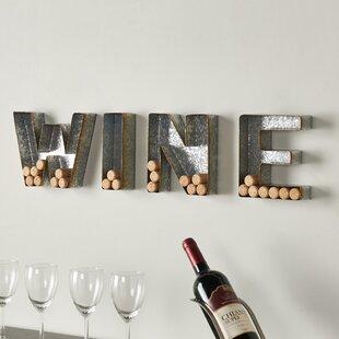 4 Piece Wine Letter Set Cork Holder Wall Décor