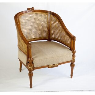 The Silver Teak Rudolf Cane Barrel Chair