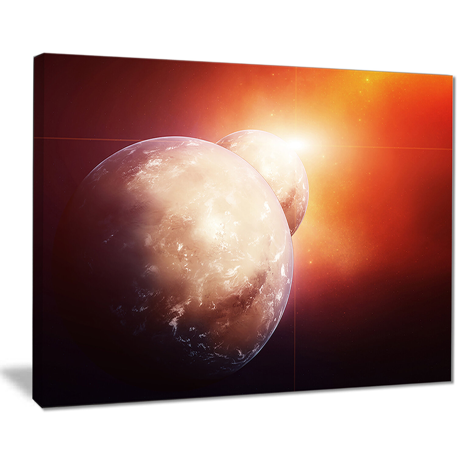 Designart Planets With Rising Star Graphic Art On Wrapped Canvas Wayfair