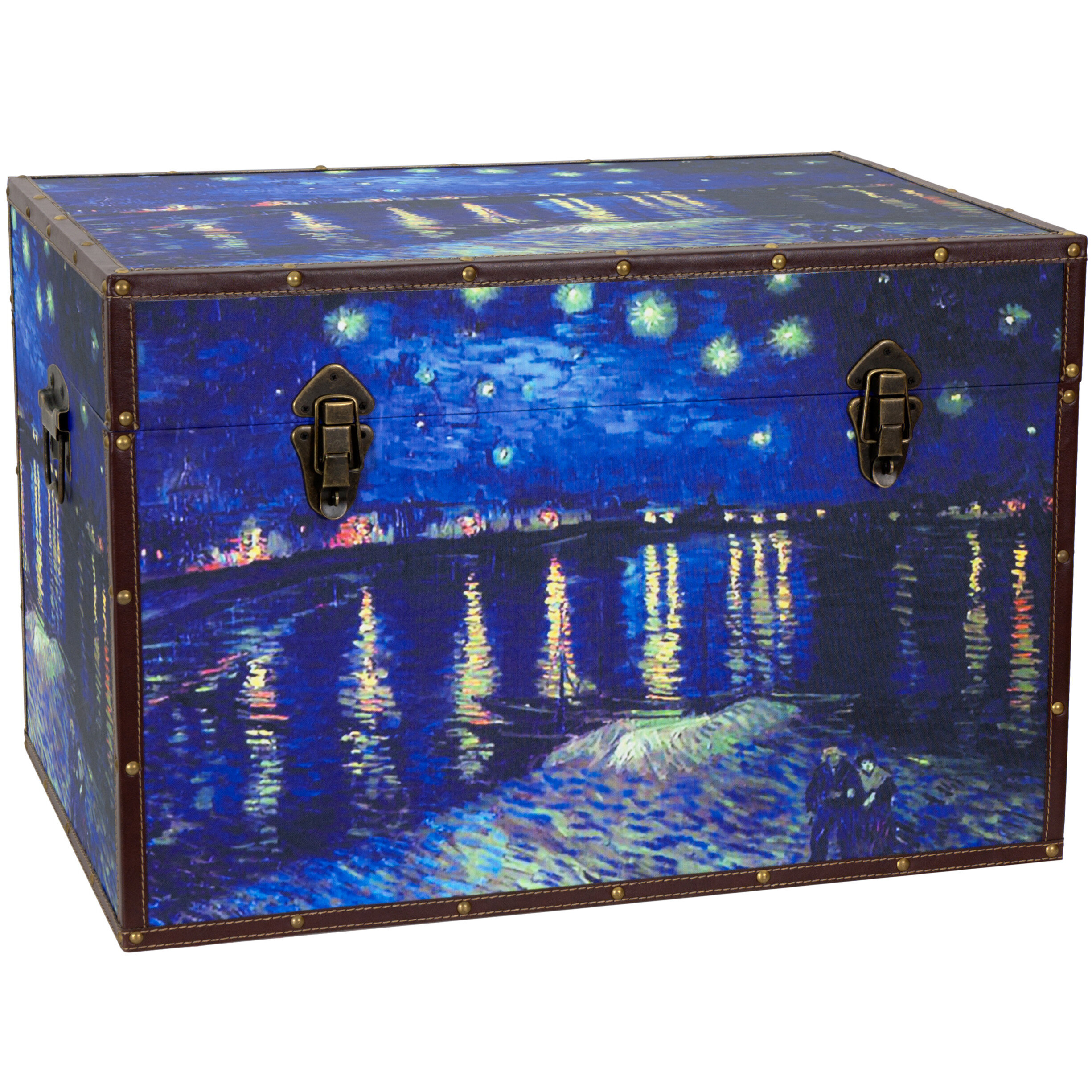 Oriental Furniture Van Goghu0027s Starry Night Over The Rhone Trunk U0026 Reviews |  Wayfair