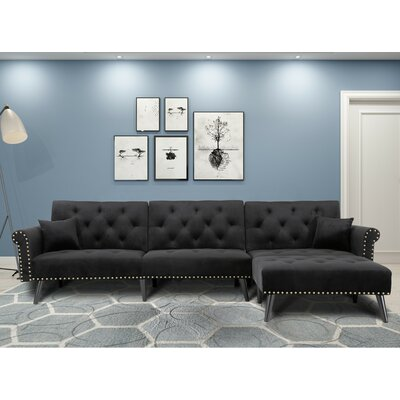 Black Sectionals Amp Sectional Couches You Ll Love In 2019 Wayfair