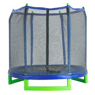 7' Backyard: Above Ground Trampoline With Safety Enclosure By Freeport Park