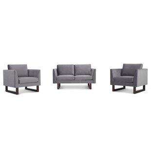 Alisson 3 Piece Velvet Living Room Set by Sand & Stable™