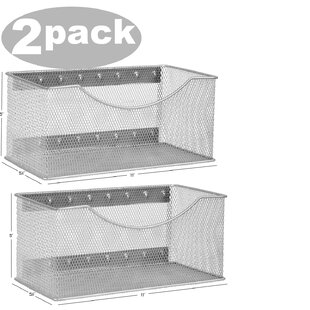 Rebrilliant Biggerstaff Wire Mesh Magnetic Storage Basket (Set of 2)