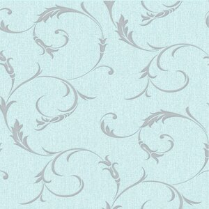 Athena Swirling 33' x 20'' Scroll 3D Embossed Wallpaper