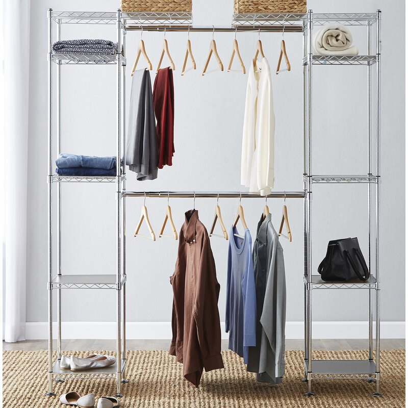 "Wayfair Basics 58"" to 83"" Closet System"