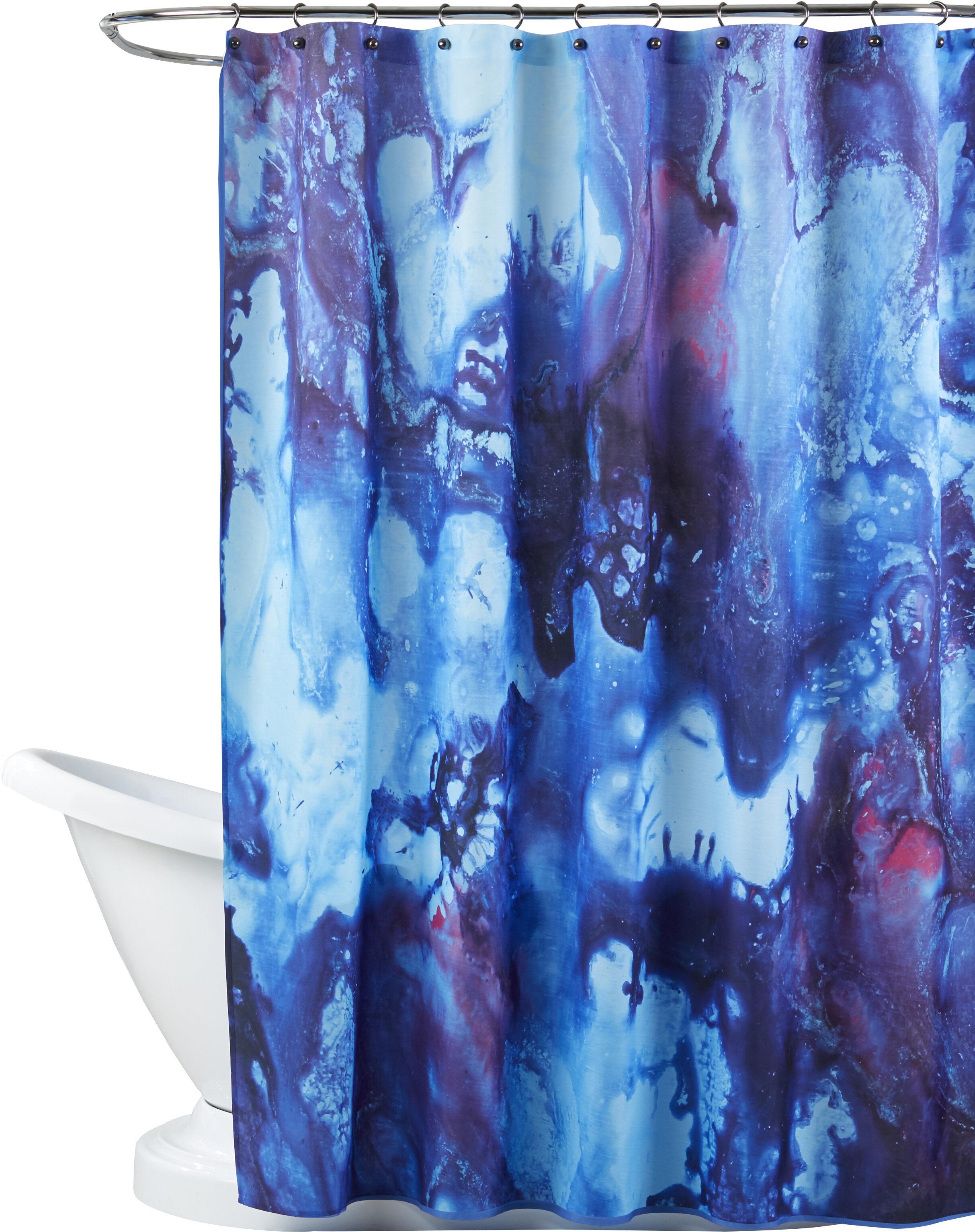 Brayden Studio Deb Mcnaughton Ink Single Shower Curtain Wayfair
