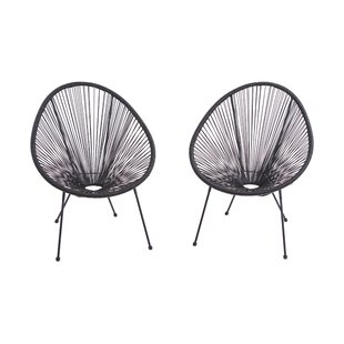 Compare prices Zion Papasan Chair (Set of 2) By Langley Street