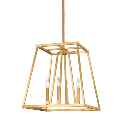 Hanley 4 Light Lantern Geometric Pendant Darby Home Co Finish Gilded Satin Brass Size 19 H X 18 W X 18 D Shefinds