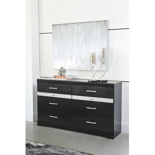 Halewood 6 Drawer Double Dresser by Orren Ellis Great Reviews