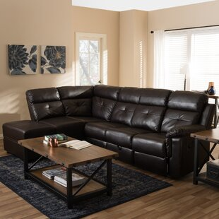 Kujawa Reclining Sectional Red Barrel Studio