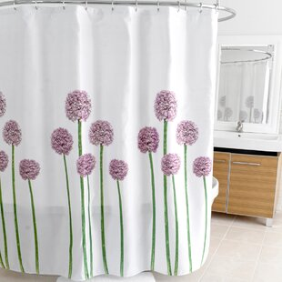 Allium Polyester Single Shower Curtain by East Urban Home Today Sale Only