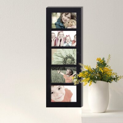 Harpe 5 Opening Wood Photo Collage Wall Hanging Picture Frame
