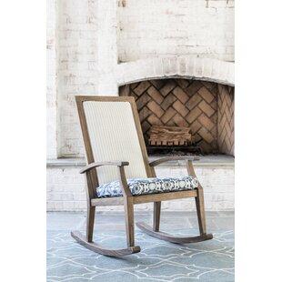 Lloyd Flanders Wildwood Teak Rocking Chair With Cushion