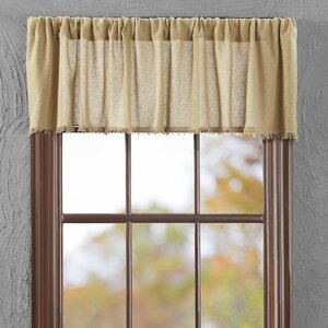 Francoise Cloth Khaki Fringed Curtain Valance