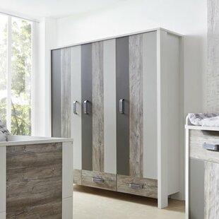 Woody Grey 3 Door Wardrobe By Schardt